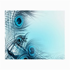 Feathery Background Small Glasses Cloth (2 Side) by Simbadda