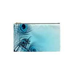 Feathery Background Cosmetic Bag (small)  by Simbadda