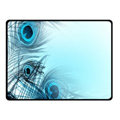 Feathery Background Fleece Blanket (small) by Simbadda
