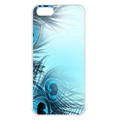 Feathery Background Apple Iphone 5 Seamless Case (white) by Simbadda