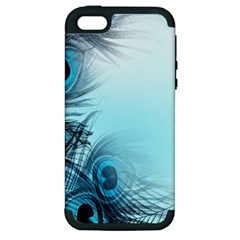 Feathery Background Apple Iphone 5 Hardshell Case (pc+silicone) by Simbadda