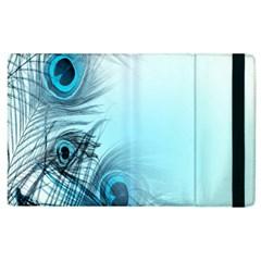 Feathery Background Apple Ipad 2 Flip Case by Simbadda