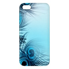 Feathery Background Apple Iphone 5 Premium Hardshell Case by Simbadda