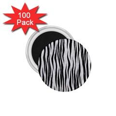 Black White Seamless Fur Pattern 1 75  Magnets (100 Pack)  by Simbadda