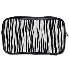 Black White Seamless Fur Pattern Toiletries Bags 2 Side by Simbadda