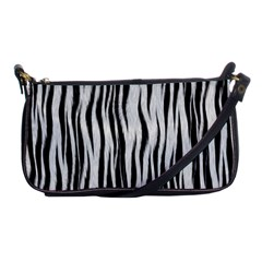 Black White Seamless Fur Pattern Shoulder Clutch Bags by Simbadda