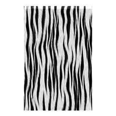 Black White Seamless Fur Pattern Shower Curtain 48  X 72  (small)  by Simbadda