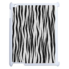 Black White Seamless Fur Pattern Apple Ipad 2 Case (white) by Simbadda