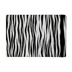 Black White Seamless Fur Pattern Apple Ipad Mini Flip Case by Simbadda