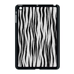 Black White Seamless Fur Pattern Apple Ipad Mini Case (black) by Simbadda
