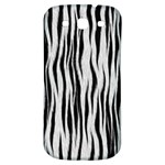 Black White Seamless Fur Pattern Samsung Galaxy S3 S III Classic Hardshell Back Case Front