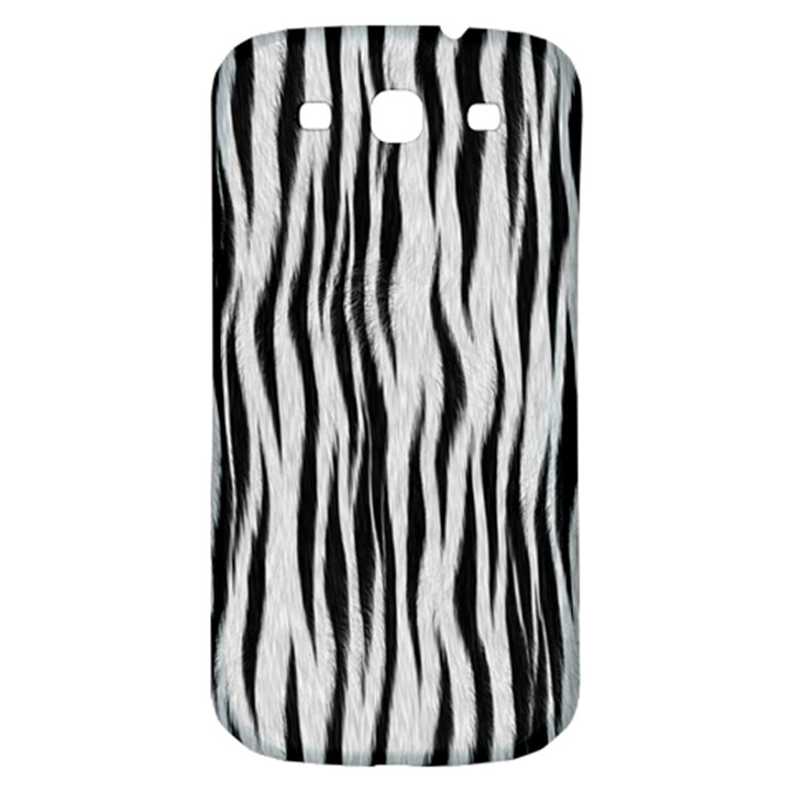Black White Seamless Fur Pattern Samsung Galaxy S3 S III Classic Hardshell Back Case
