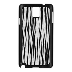 Black White Seamless Fur Pattern Samsung Galaxy Note 3 N9005 Case (black) by Simbadda