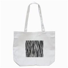 Black White Seamless Fur Pattern Tote Bag (white) by Simbadda