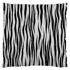 Black White Seamless Fur Pattern Standard Flano Cushion Case (two Sides) by Simbadda