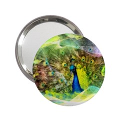 Peacock Digital Painting 2 25  Handbag Mirrors by Simbadda