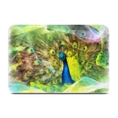 Peacock Digital Painting Plate Mats by Simbadda
