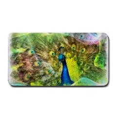 Peacock Digital Painting Medium Bar Mats by Simbadda