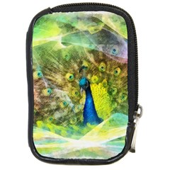 Peacock Digital Painting Compact Camera Cases by Simbadda