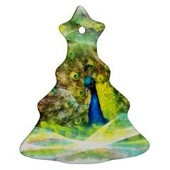 Peacock Digital Painting Ornament (christmas Tree)  by Simbadda