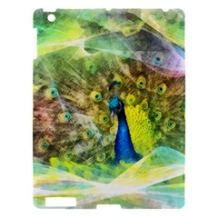 Peacock Digital Painting Apple Ipad 3/4 Hardshell Case by Simbadda