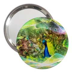 Peacock Digital Painting 3  Handbag Mirrors by Simbadda