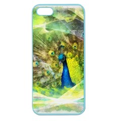 Peacock Digital Painting Apple Seamless iPhone 5 Case (Color) by Simbadda