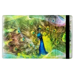 Peacock Digital Painting Apple Ipad 3/4 Flip Case by Simbadda