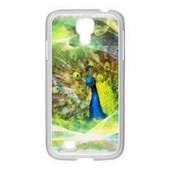 Peacock Digital Painting Samsung Galaxy S4 I9500/ I9505 Case (white) by Simbadda