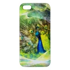 Peacock Digital Painting Iphone 5s/ Se Premium Hardshell Case by Simbadda