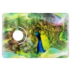 Peacock Digital Painting Kindle Fire Hdx Flip 360 Case by Simbadda