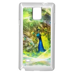Peacock Digital Painting Samsung Galaxy Note 4 Case (white)