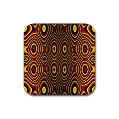 Vibrant Pattern Rubber Coaster (square)  by Simbadda