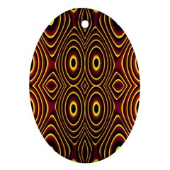 Vibrant Pattern Oval Ornament (two Sides) by Simbadda