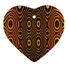Vibrant Pattern Heart Ornament (two Sides) by Simbadda