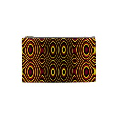 Vibrant Pattern Cosmetic Bag (small)  by Simbadda
