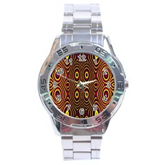 Vibrant Pattern Stainless Steel Analogue Watch by Simbadda