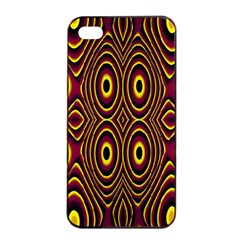 Vibrant Pattern Apple Iphone 4/4s Seamless Case (black) by Simbadda