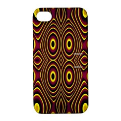 Vibrant Pattern Apple Iphone 4/4s Hardshell Case With Stand by Simbadda