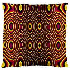 Vibrant Pattern Large Flano Cushion Case (two Sides) by Simbadda