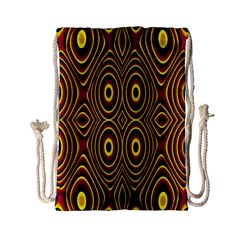 Vibrant Pattern Drawstring Bag (small) by Simbadda