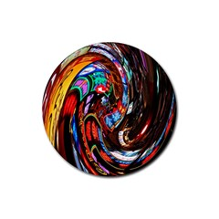 Abstract Chinese Inspired Background Rubber Coaster (round)  by Simbadda