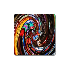 Abstract Chinese Inspired Background Square Magnet by Simbadda