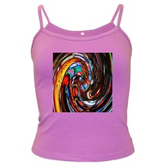 Abstract Chinese Inspired Background Dark Spaghetti Tank