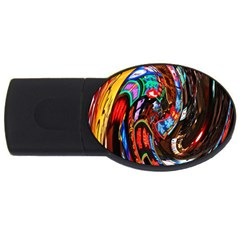 Abstract Chinese Inspired Background Usb Flash Drive Oval (4 Gb) by Simbadda
