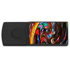 Abstract Chinese Inspired Background Usb Flash Drive Rectangular (4 Gb) by Simbadda