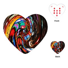 Abstract Chinese Inspired Background Playing Cards (heart)  by Simbadda