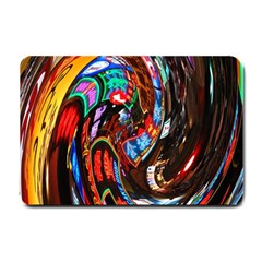Abstract Chinese Inspired Background Small Doormat  by Simbadda