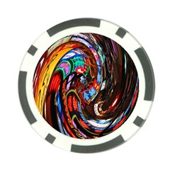 Abstract Chinese Inspired Background Poker Chip Card Guard (10 Pack) by Simbadda