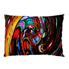 Abstract Chinese Inspired Background Pillow Case (two Sides) by Simbadda